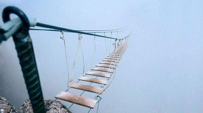 Под Ялтой через 4 дня после открытия закрылся самый длинный подвесной мост в Крыму, фото-9
