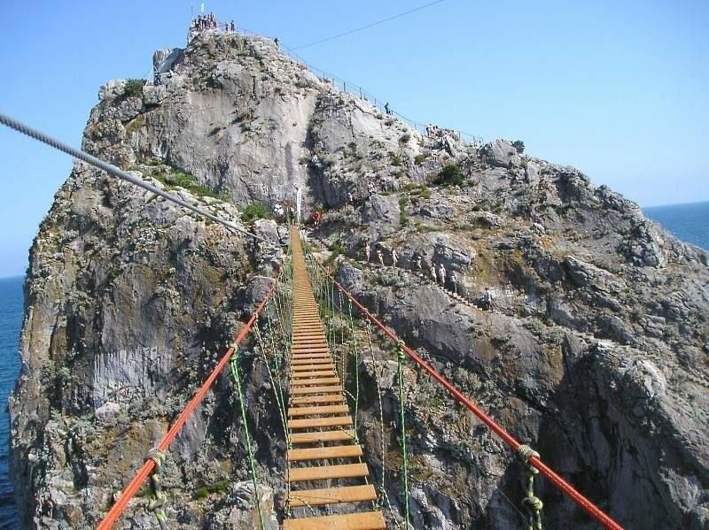 Под Ялтой через 4 дня после открытия закрылся самый длинный подвесной мост в Крыму, фото-7