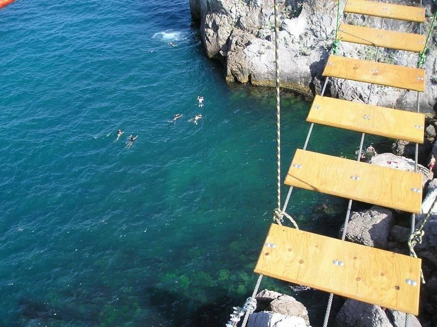 Самый длинный подвесной мост в Крыму под Ялтой продолжает работу в штатном режиме, фото-6