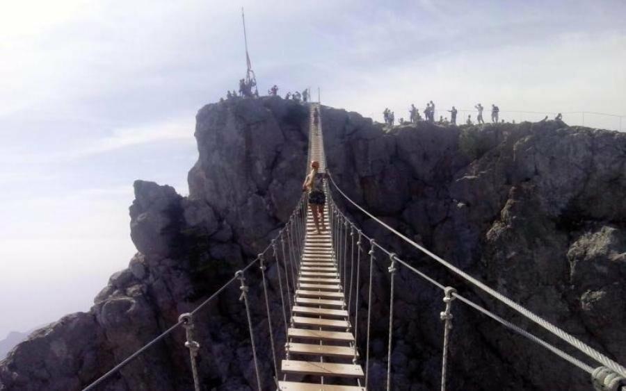 Самый длинный подвесной мост в Крыму под Ялтой продолжает работу в штатном режиме, фото-7