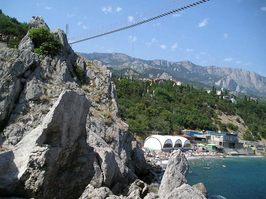 Самый длинный подвесной мост в Крыму под Ялтой продолжает работу в штатном режиме, фото-5