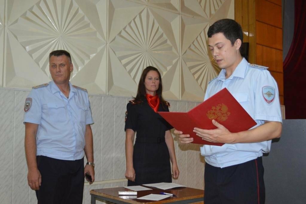 В Ялте вновь прибывшие на службу сотрудники полиции приняли присягу на верность народу России, фото-1