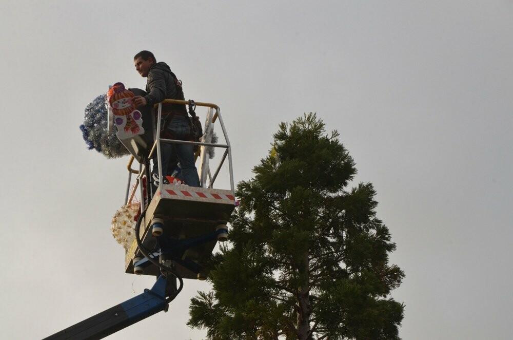 В Никитском саду 11-метровый секвойядендрон украсили игрушками ручной работы, фото-1