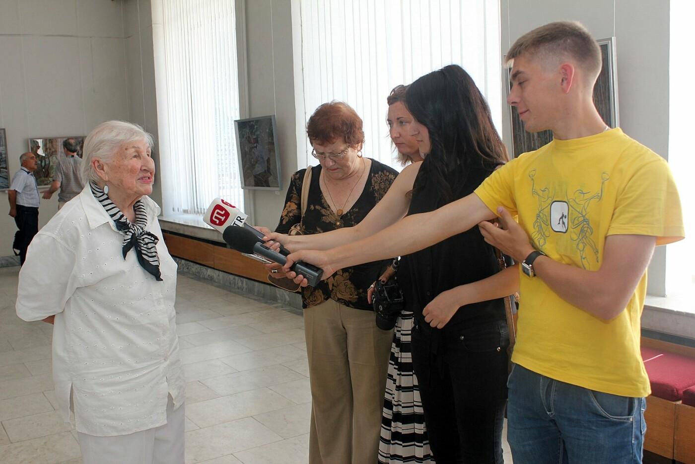 Анна Олейник, художник, почётный гражданин Ялты  сегодня празднует 94 года! , фото-1