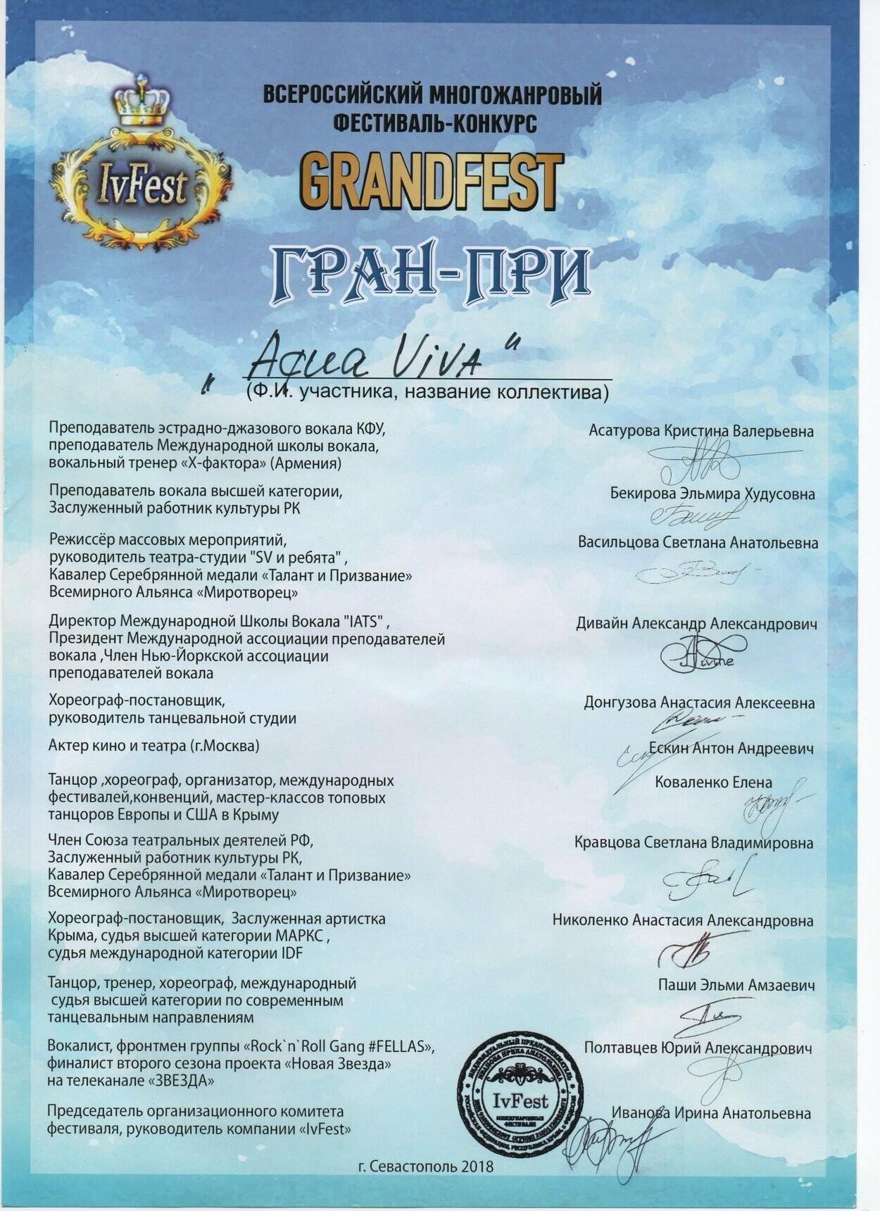 Ялтинские студенты забрали все призовые места на Всероссийском многожанровом фестивале талантов «GrandFest», фото-6