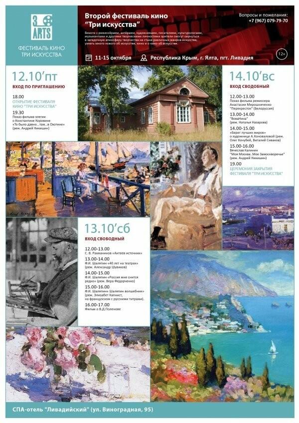 В Ялте пройдет II фестиваль «Три искусства», посвященный памяти Константина Коровина, фото-1