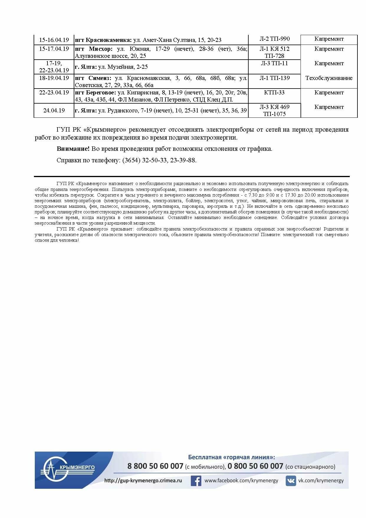 В апреле из-за ремонтных работ в Ялте будут отключать свет: ГРАФИК, фото-2