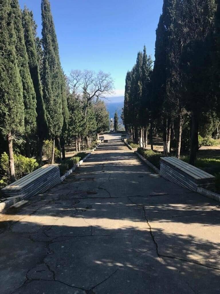 В парке Алупки восстановили скамейки, фото-2