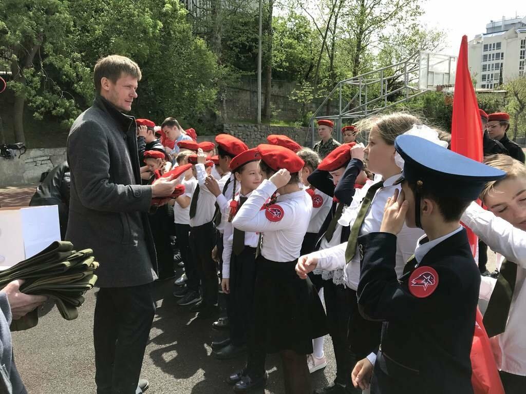 В Ялте прошел первый городской смотр-конкурс юнармейских отрядов , фото-4