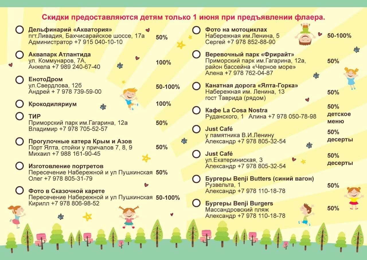День детей в Ялте, - программа, адреса,  скидки, фото-3