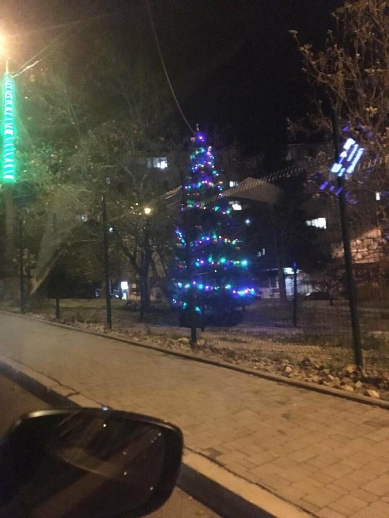Жители Ялты украшают придомовые территории к Новому году, фото-4