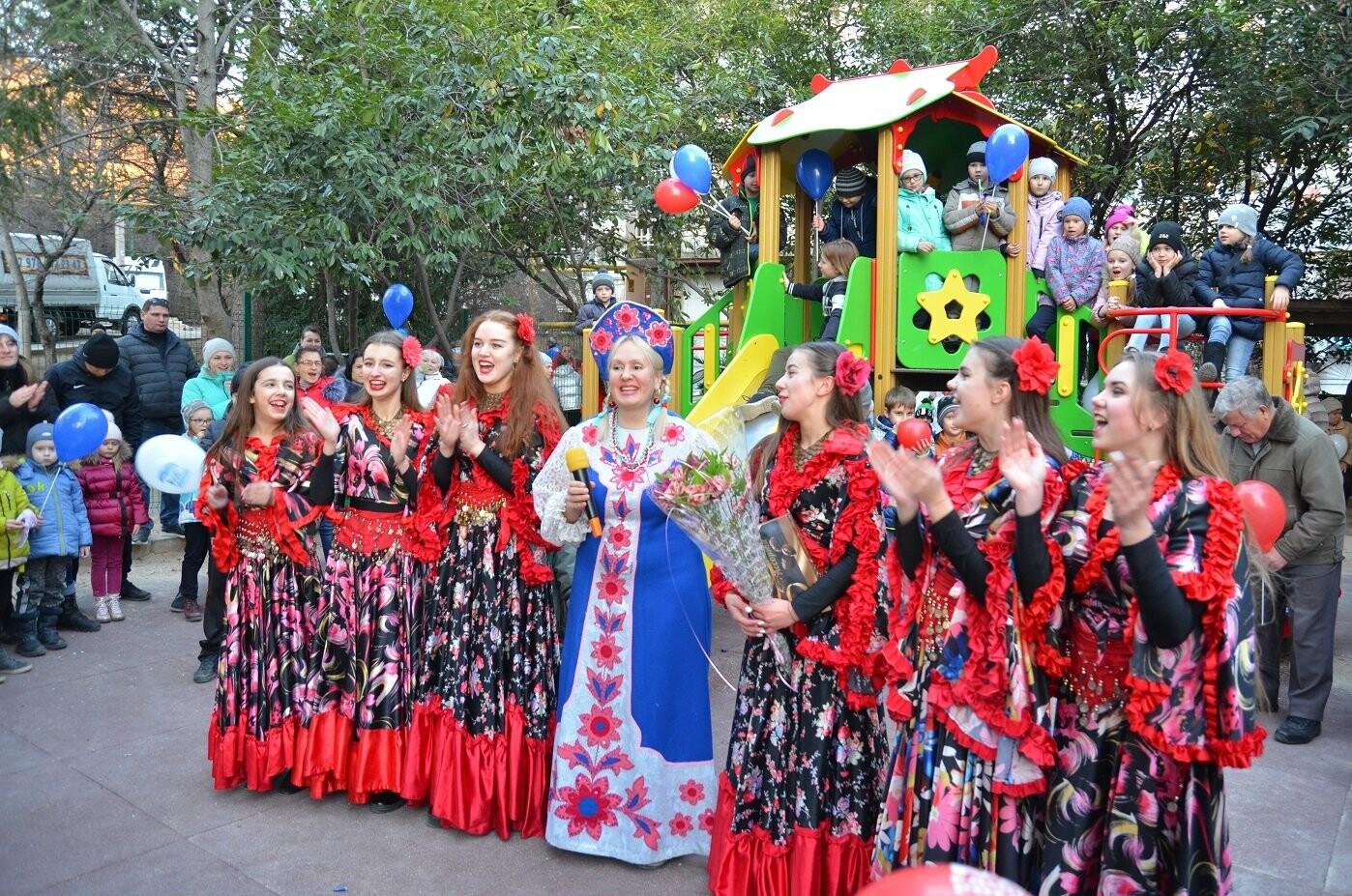 В Гаспре на Старый Новый год на новой детской площадке прошел большой праздник, фото-2