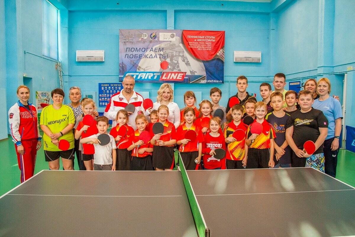 Министр спорта Крыма Ольга Торубарова  провела тренировку с юными теннисистами Ялты, фото-3
